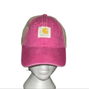 🆕Carhartt CANVAS MESH-BACK CAP,Orange Spot Washed